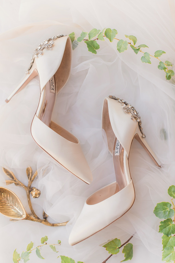 Luxury white wedding shoesSun and Sparrow Photography