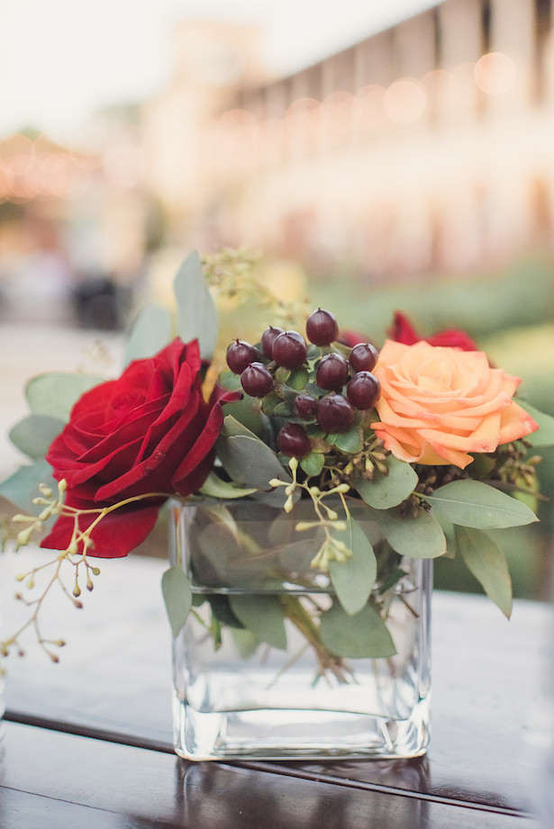 Small wedding centerpiece - Sun and Sparrow Photography