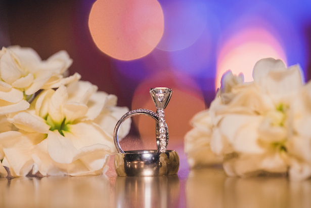Wedding rings in platinum - Sun and Sparrow Photography