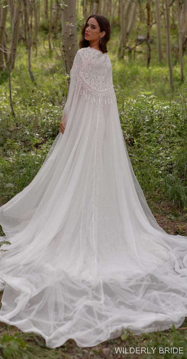 Wilderly Bride Wedding Dress Collection Spring 2021 - Style: F220 Shelby with L Cape