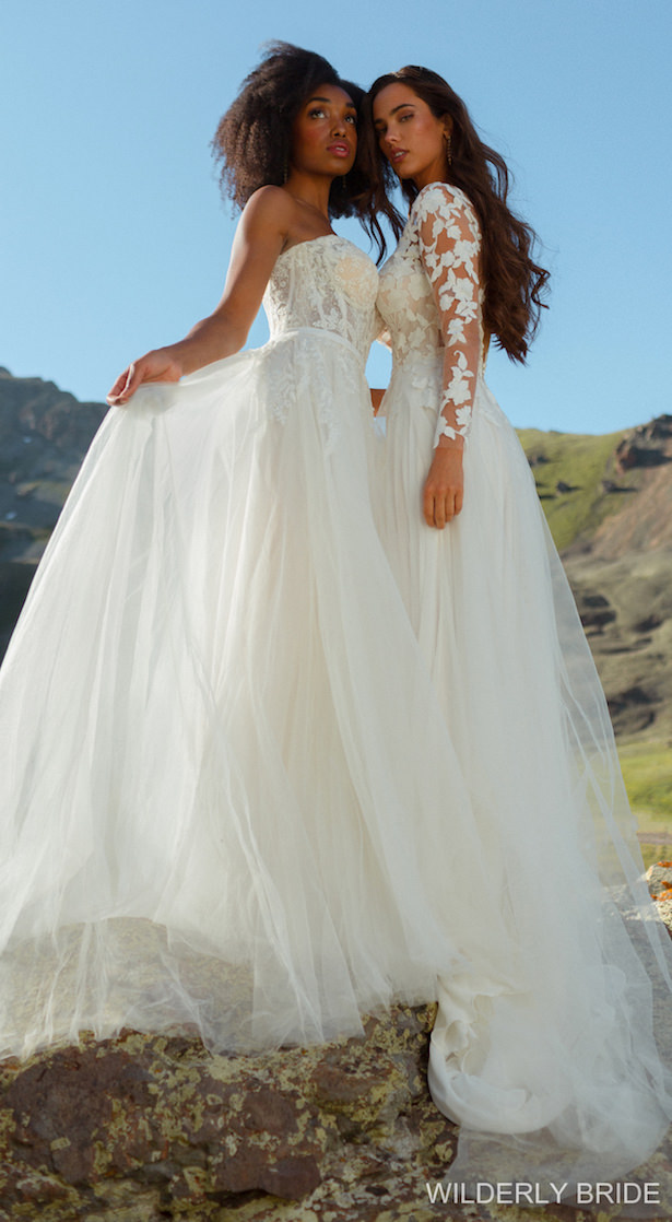 Wilderly Bride Wedding Dress Collection Spring 2021 - Styles F223: Wren and F227: Lila