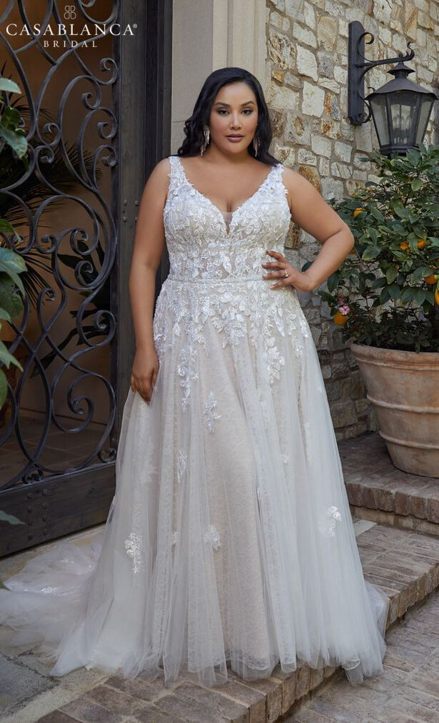 Casablanca Bridal Plus Size Wedding Dresses Spring 2020 - Style 2445 Lucy