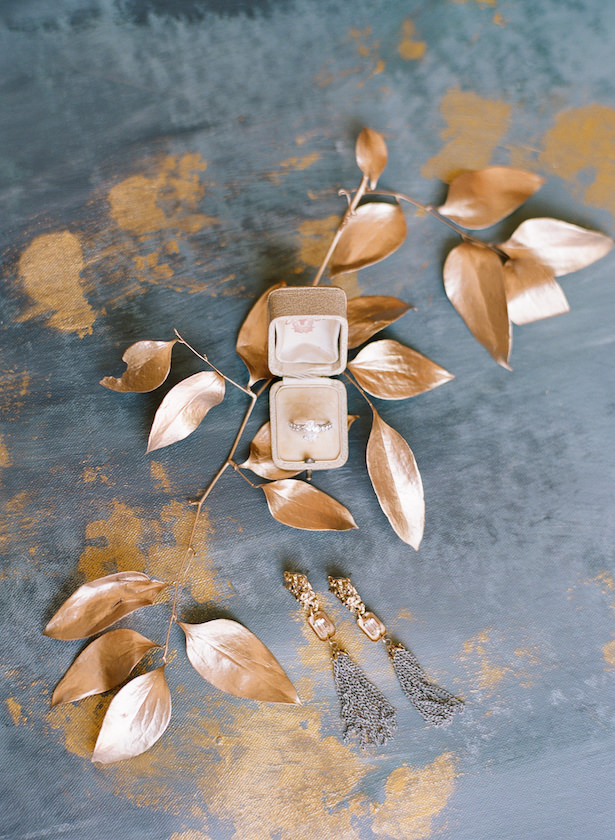 Gold bridal accessories - Sunshower Photography