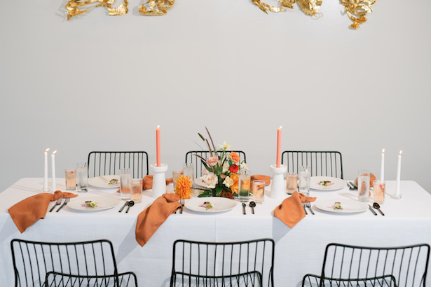 Modern wedding table with modern style - Sunshower Photography