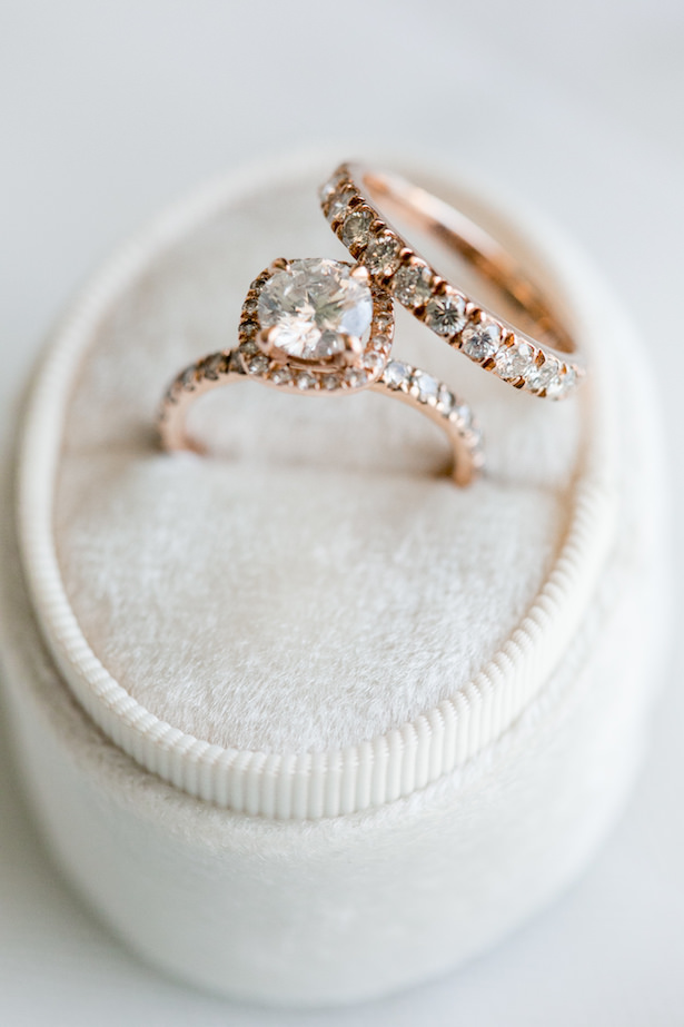Rose Gold Engagement Ring and wedding band - ARTE DE VIE Photography