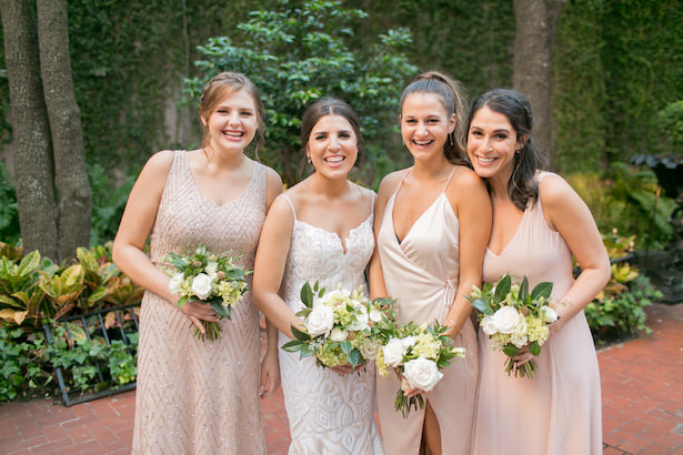 Rose gold long blush bridesmaid dresses - ARTE DE VIE Photography