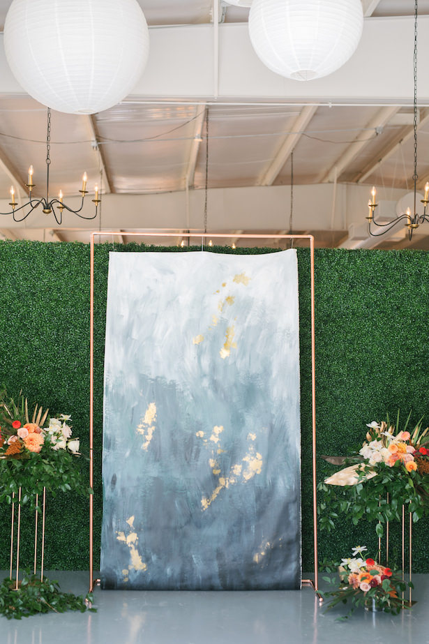 Watercolor ombre background for wedding ceremony - Sunshower Photography
