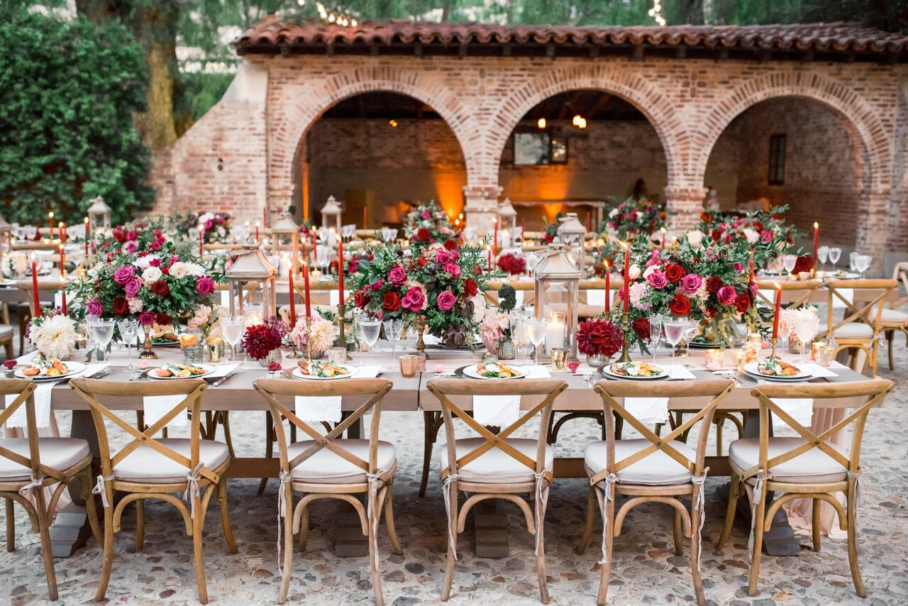 Outdoor wedding reception with long tables - Photography: Dmitry Shumanev