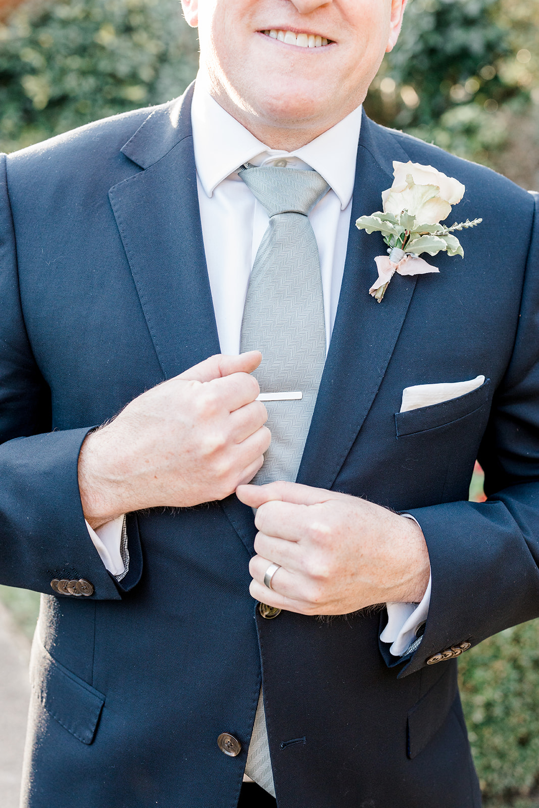 Blue wedding suit for groom - Kelsie Scully Photography