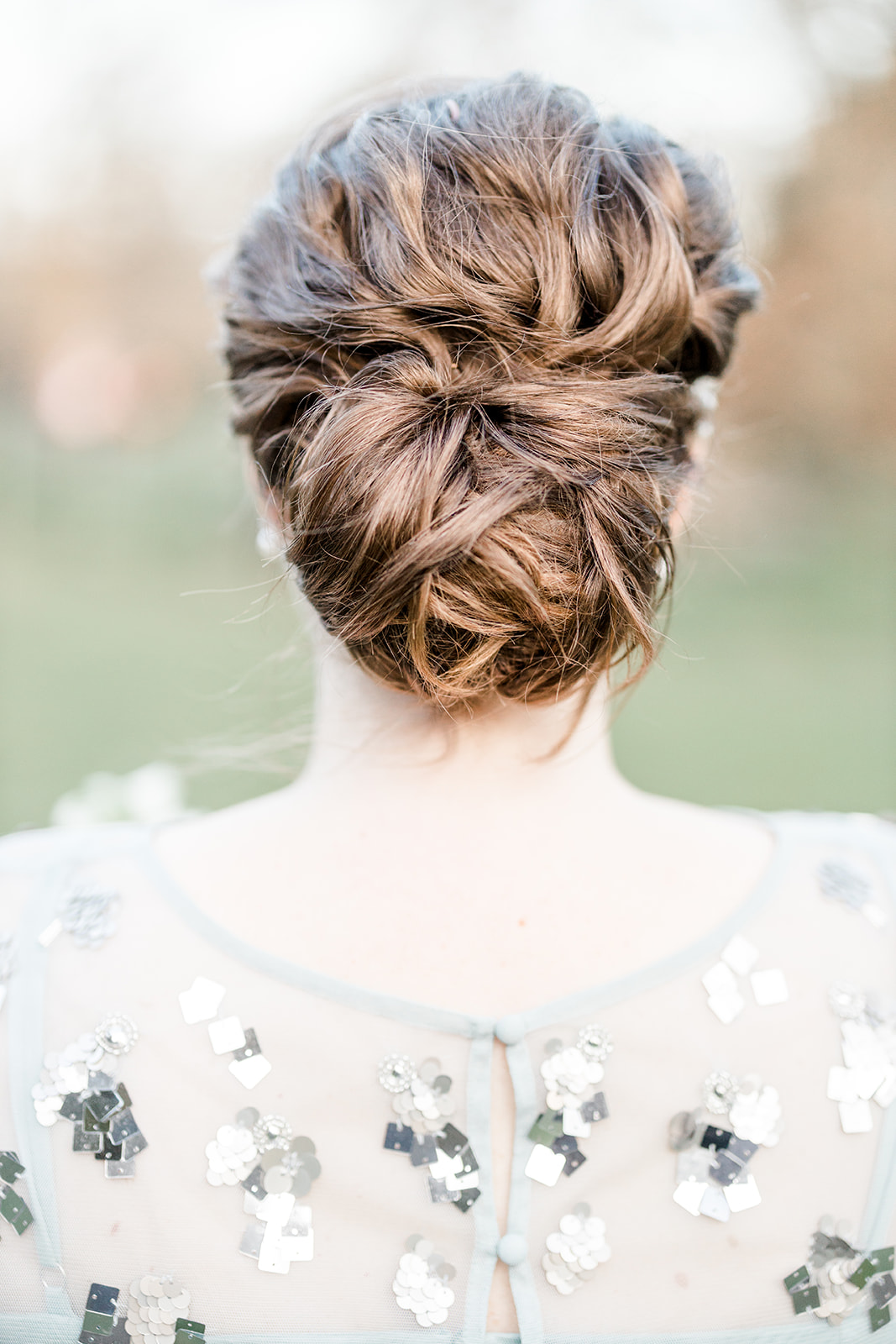Bridal chignon hairstyle - Kelsie Scully Photography