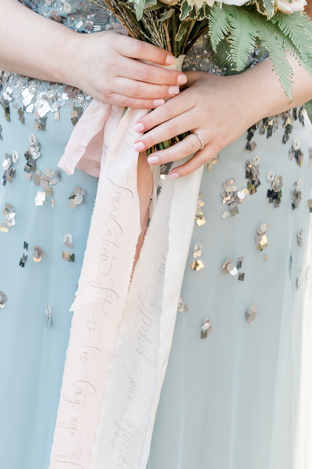 Wedding bouquet ribbons - Kelsie Scully Photography