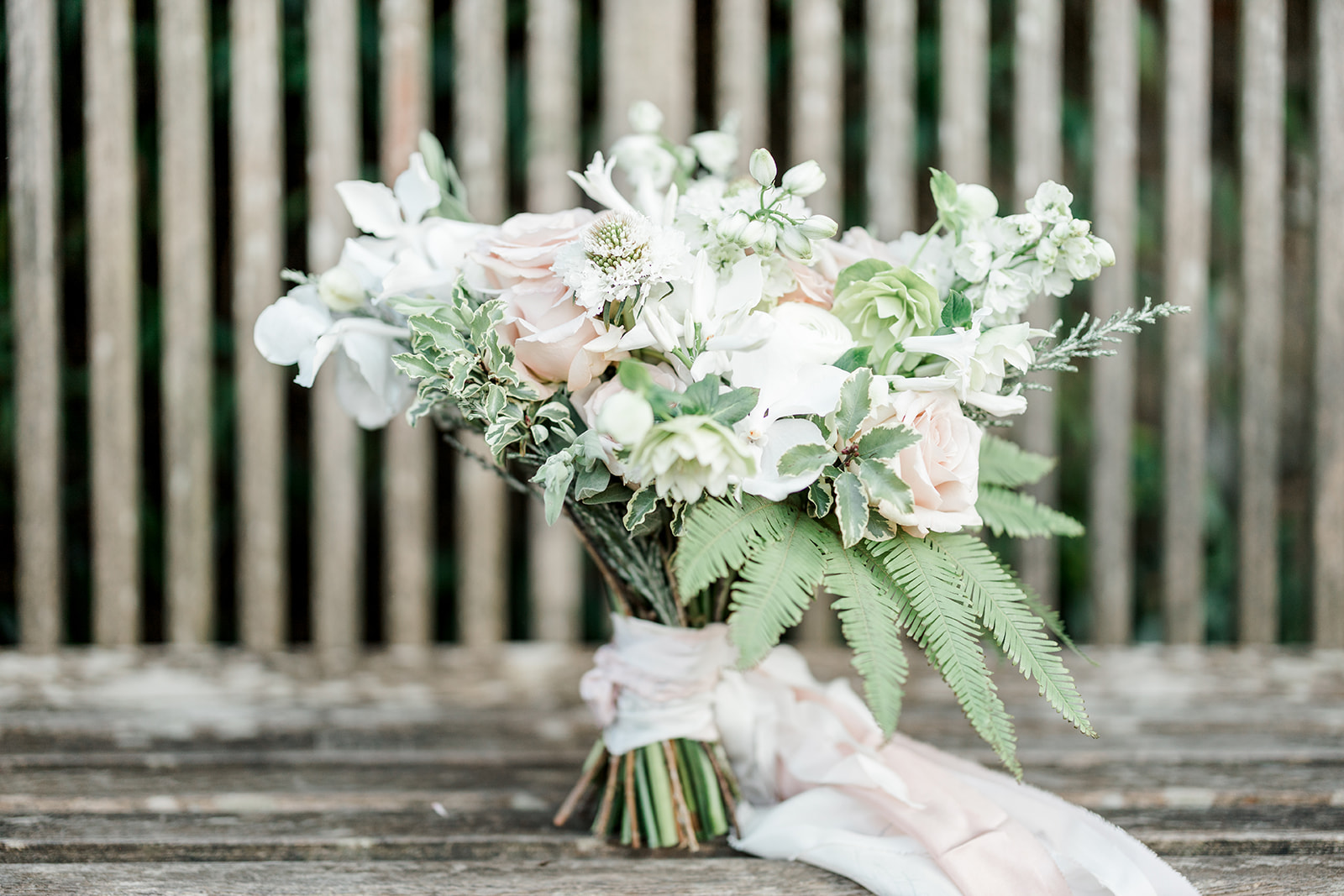 Wedding bouquet with blush roses - Kelsie Scully Photography