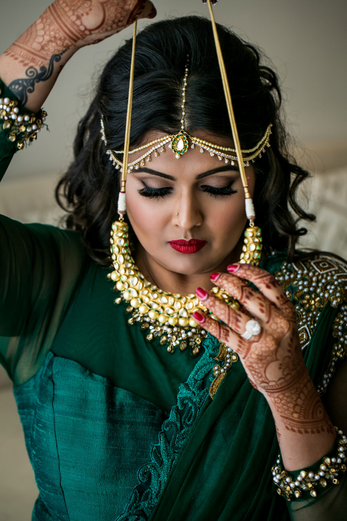 South asian bride hair and makeup - Nadia D Photo