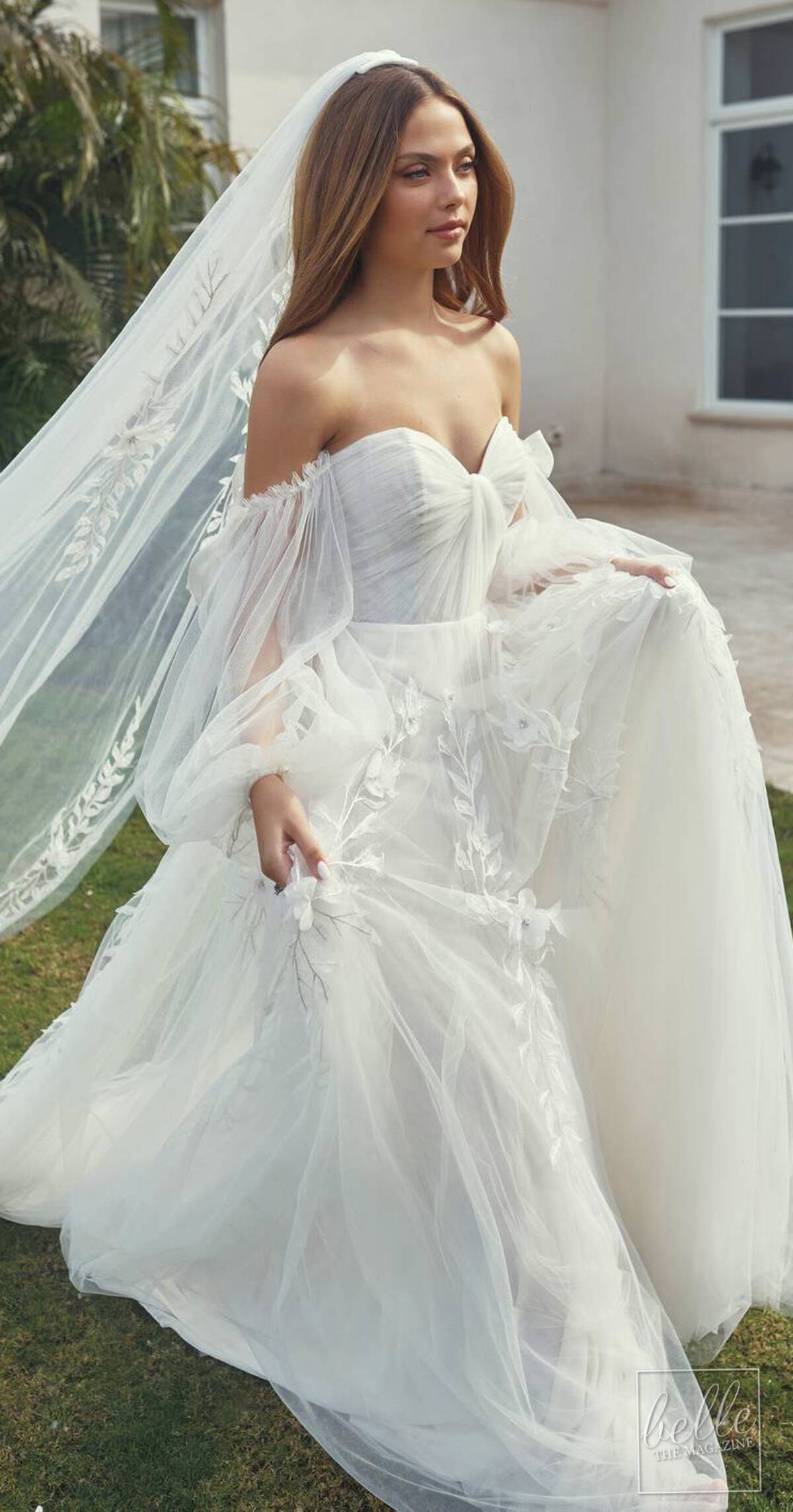 Wedding dress trends 2021 - Puff Sleeves - Lihi Hod Couture Collection Spring 2022