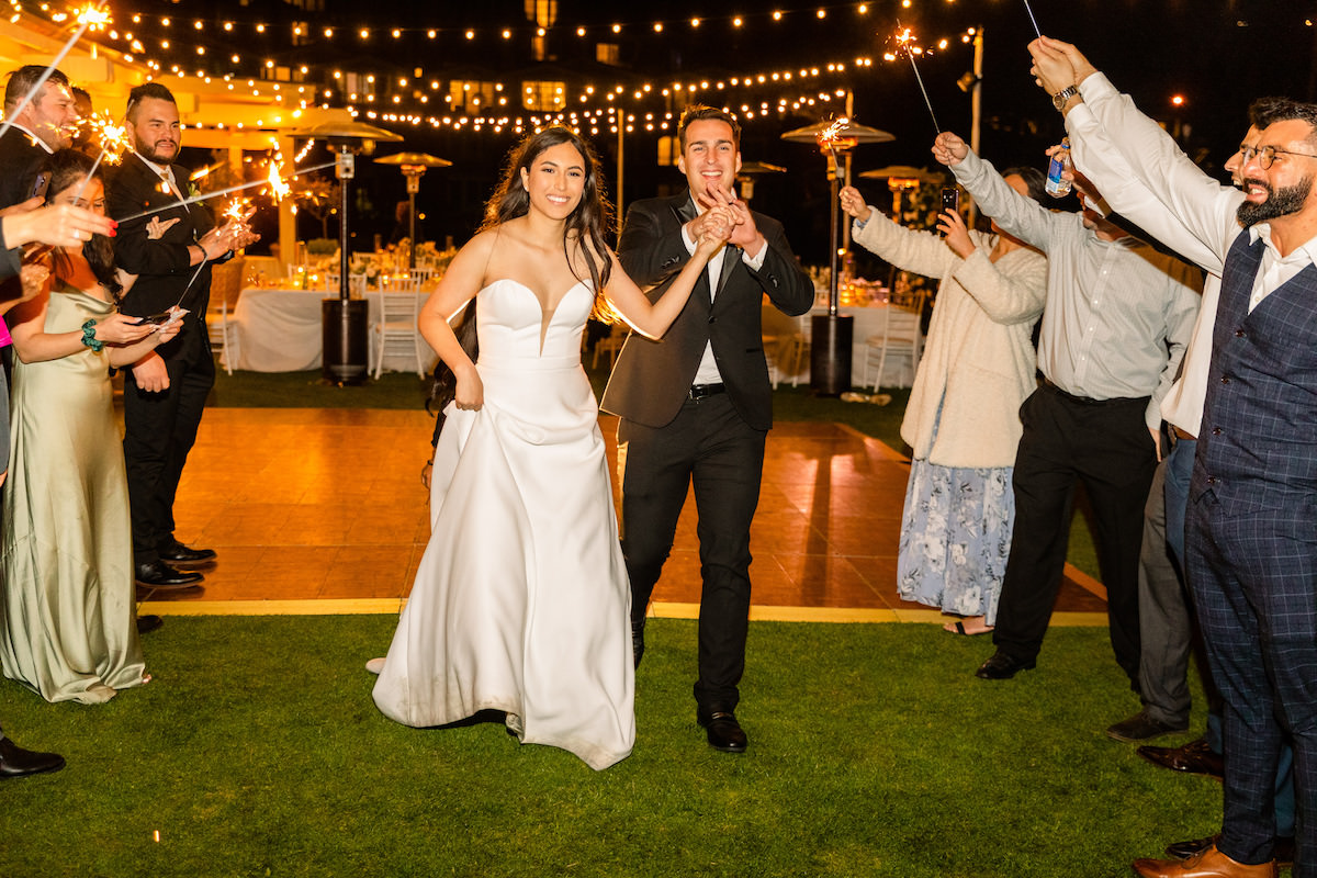 Wedding exit with sparklers - Holly Sigafoos Photo