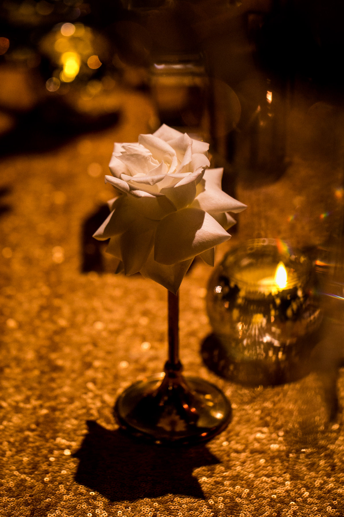 White rose wedding centerpiece - Nadia D Photo