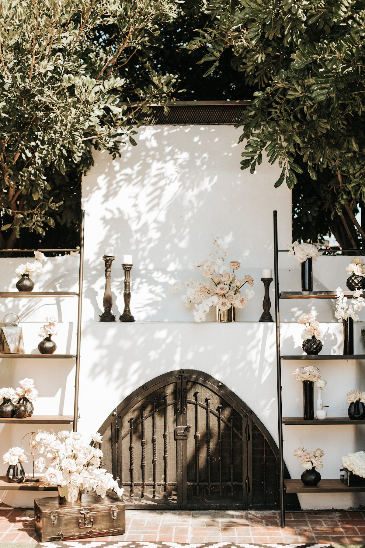 Black and white outdoor wedding ceremony elopement - Sydney Bliss Photography