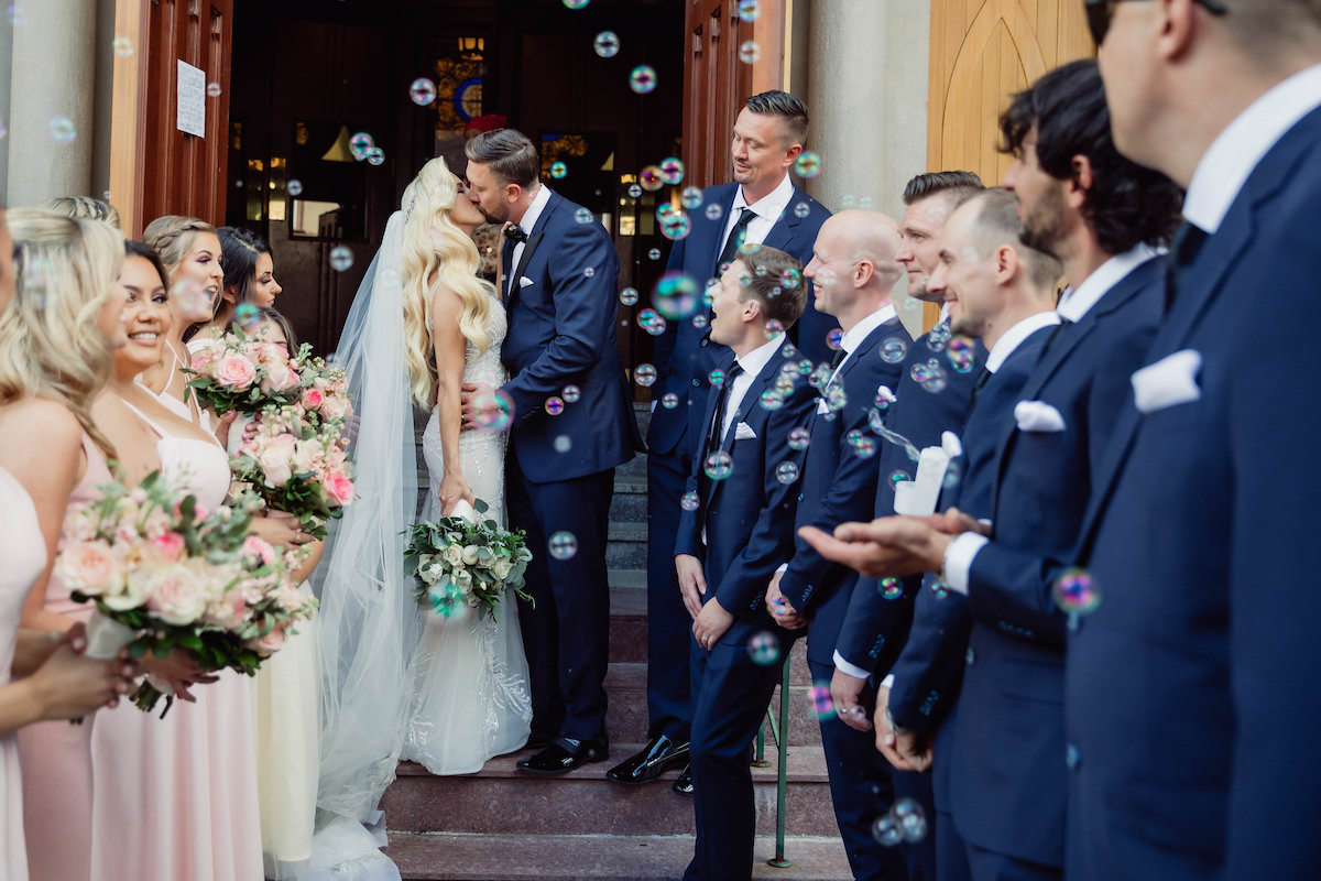 Church wedding ceremony exit - Photography: Charming Images