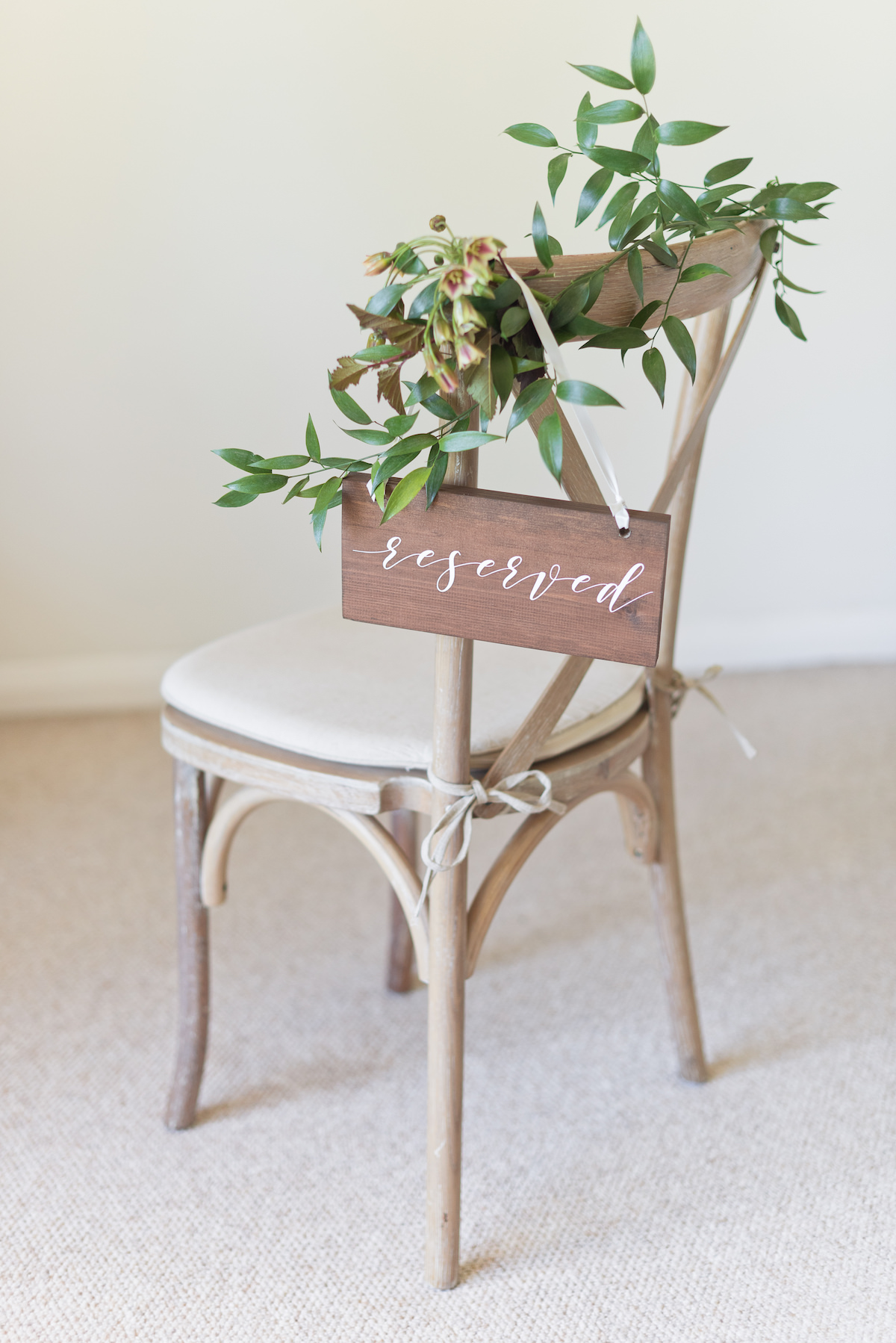Classic Reserved Wedding Sign