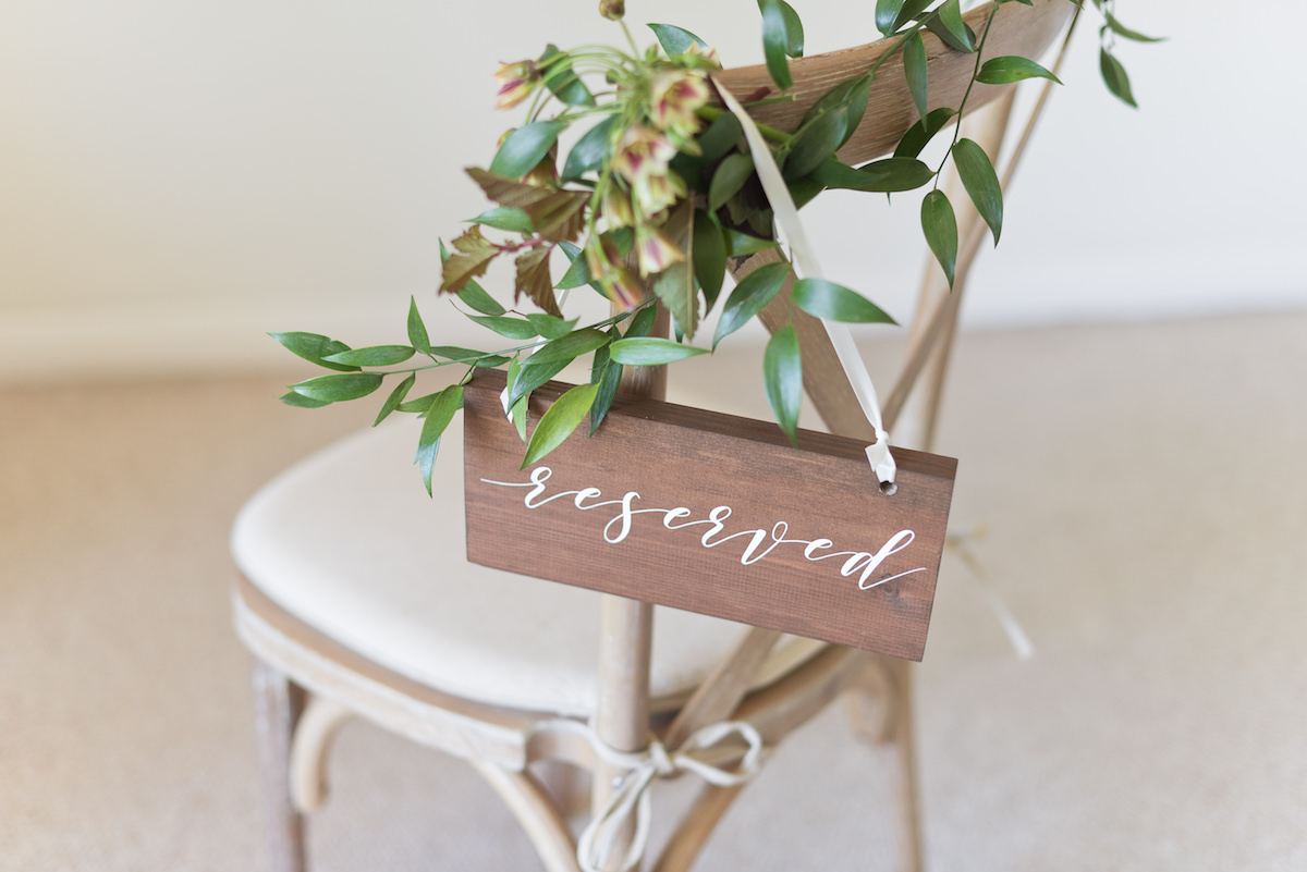 Romantic Reserved Wedding Sign
