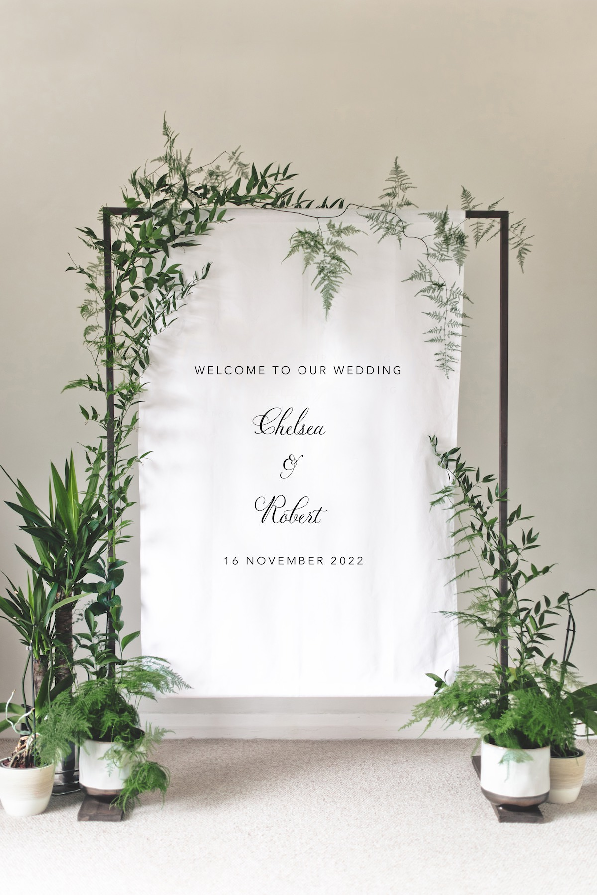 Welcome Wedding Sign - Banner Classic Duet