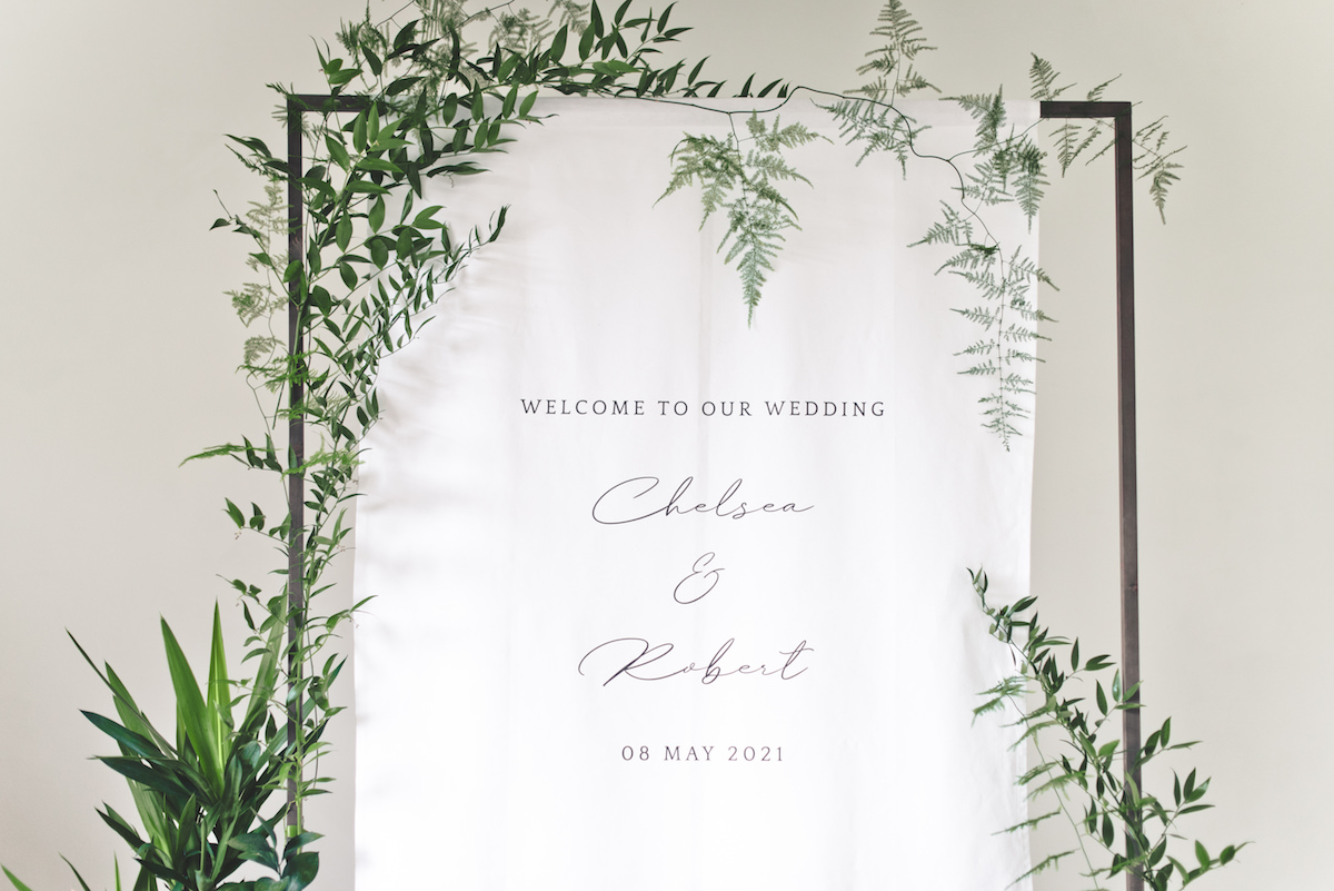 Welcome Wedding Sign -Banner Stand