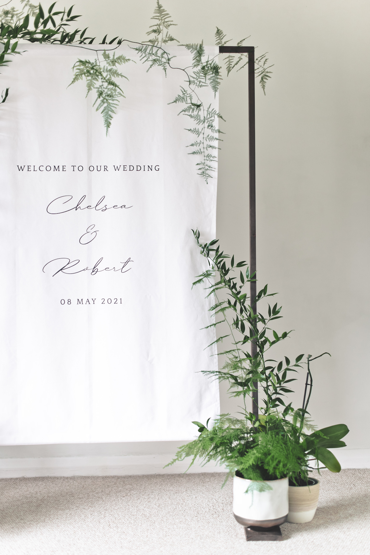 Welcome Wedding Sign - Banner Stand