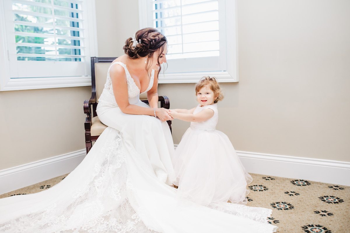 Bride and daughter - Bohemian Road Photography