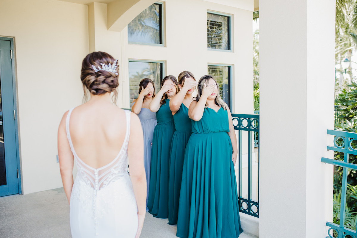 Bridesmaids first look photo ideas - Bohemian Road Photography