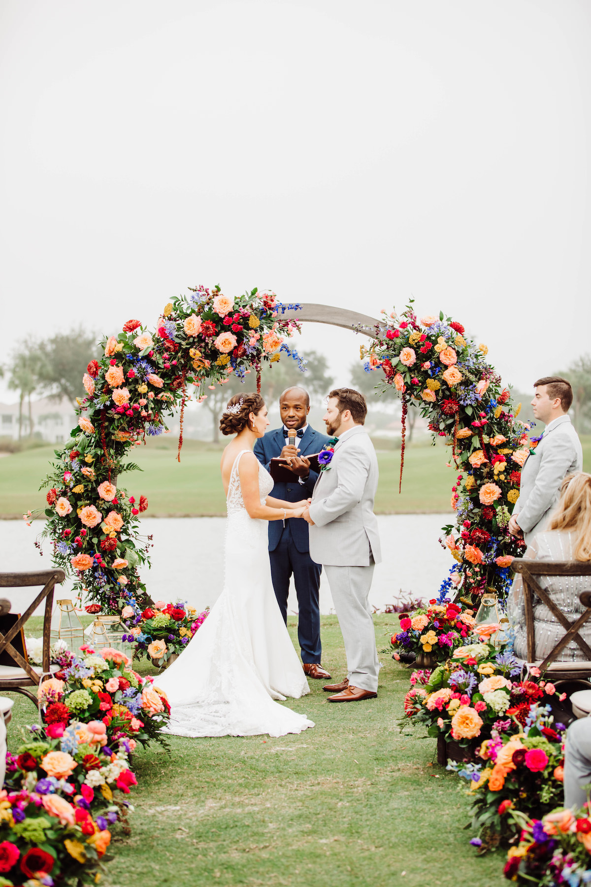 Colorful Summer Wedding Ceremony - Bohemian Road Photography