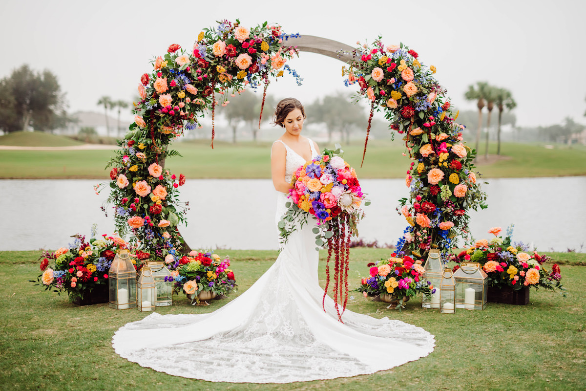 Floral wedding arch - Bohemian Road Photography