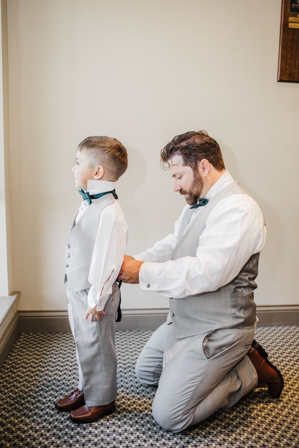 Groom and ring bearer getting ready for the wedding - Bohemian Road Photography