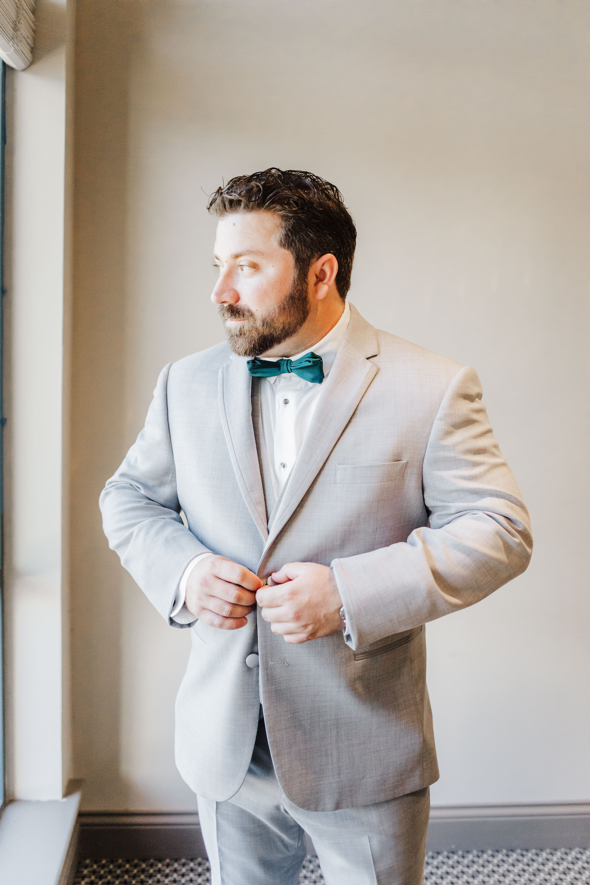 Groom with grey suit - Bohemian Road Photography