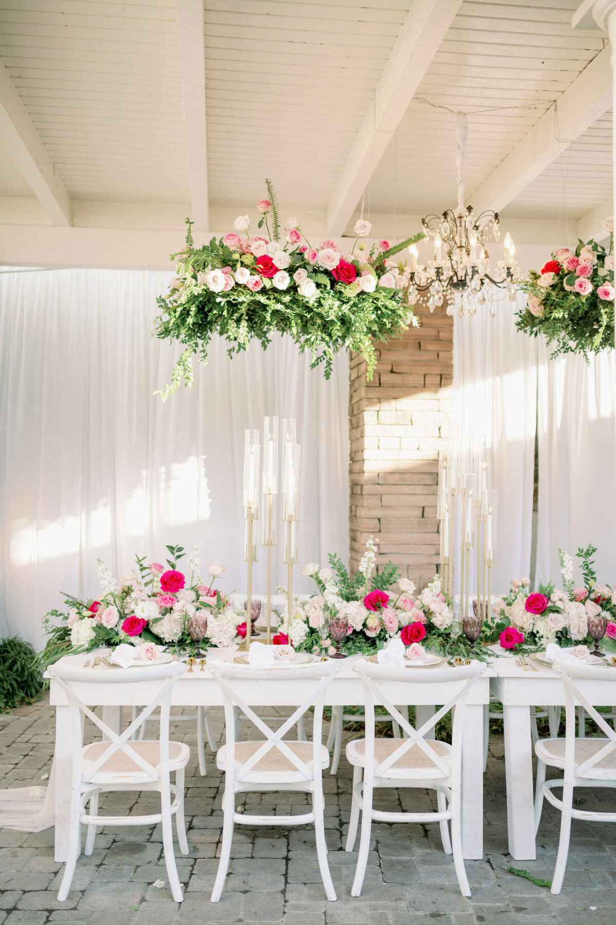 Summer outdoor reception table - Peony Park Photography