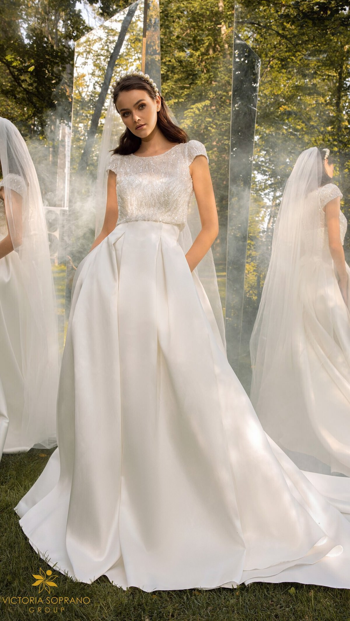Vinatge Wedding dress with pockets by Victoria Soprano 2022 Bridal Collection