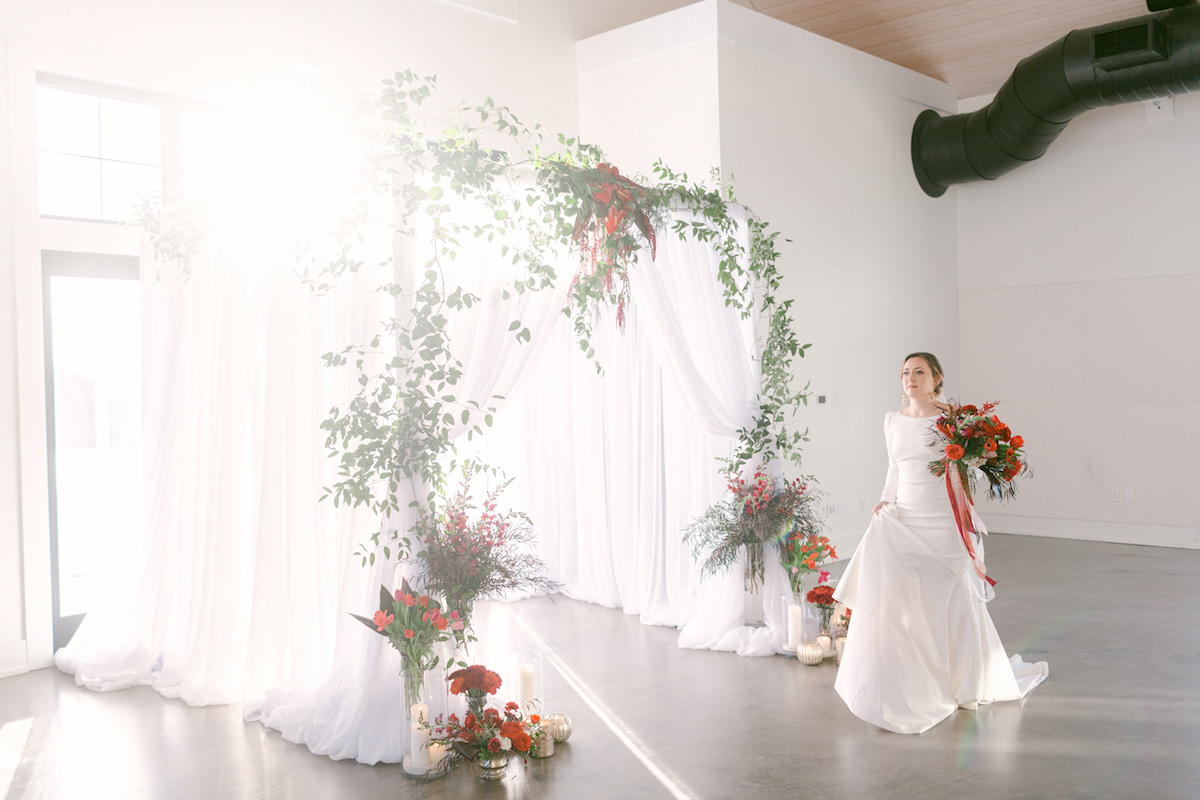 White green and red winter wedding - 5th Fine Art Photography