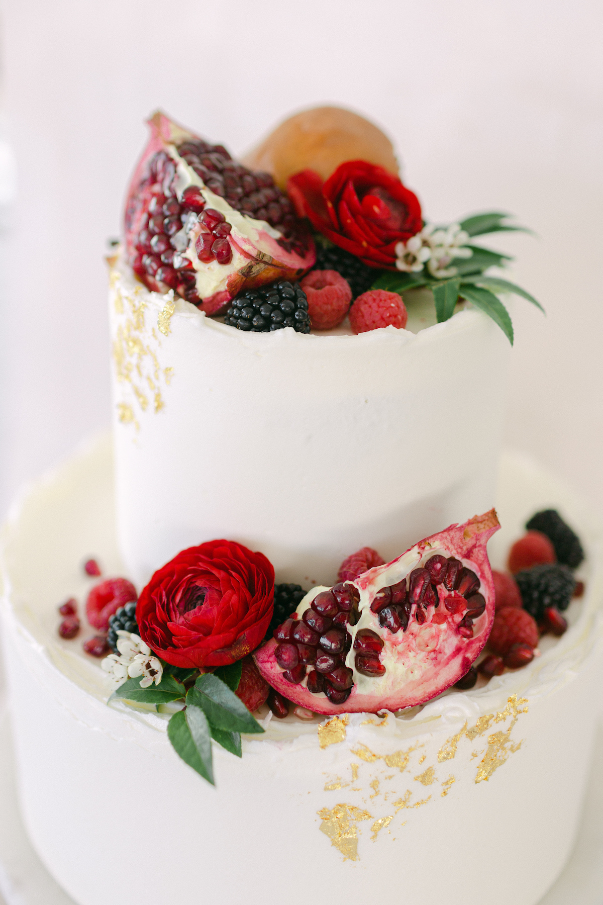 Winter Wedding cake with fruit - 5th Fine Art Photography