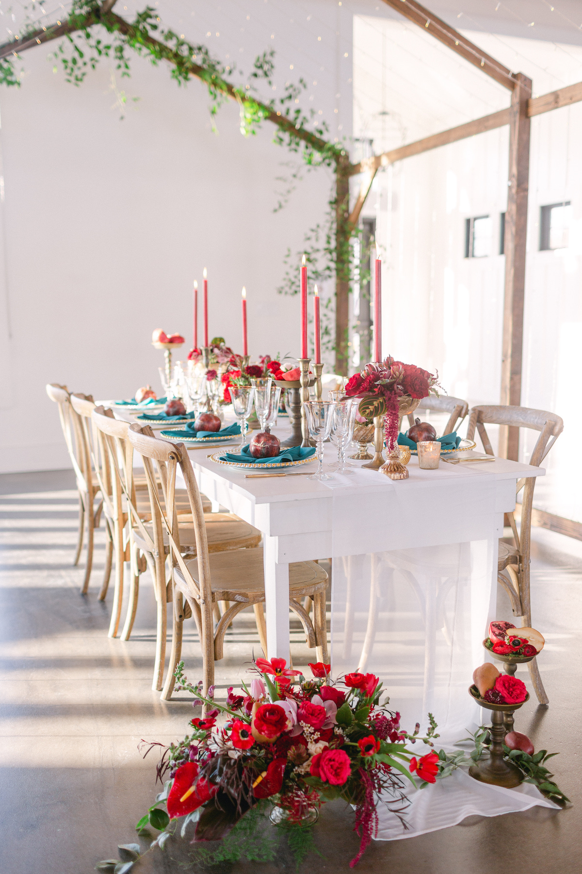 Winter wedding tablescape decorations - 5th Fine Art Photography