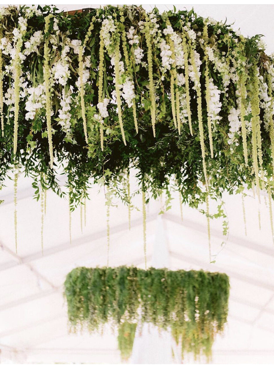 Hanging Wedding Florals - Christopher Plaza - The Bride Candy