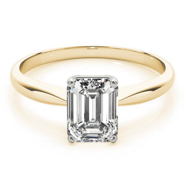 Lab Grown Diamond Engagement Ring by LovBe - Yellow Gold Emerald Cut Vintage
