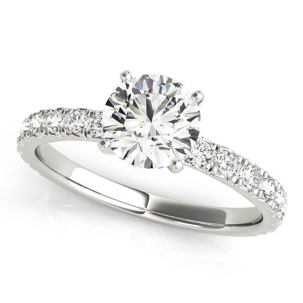 Lab Grown Diamond Engagement Ring by LovBe - White gold classic round