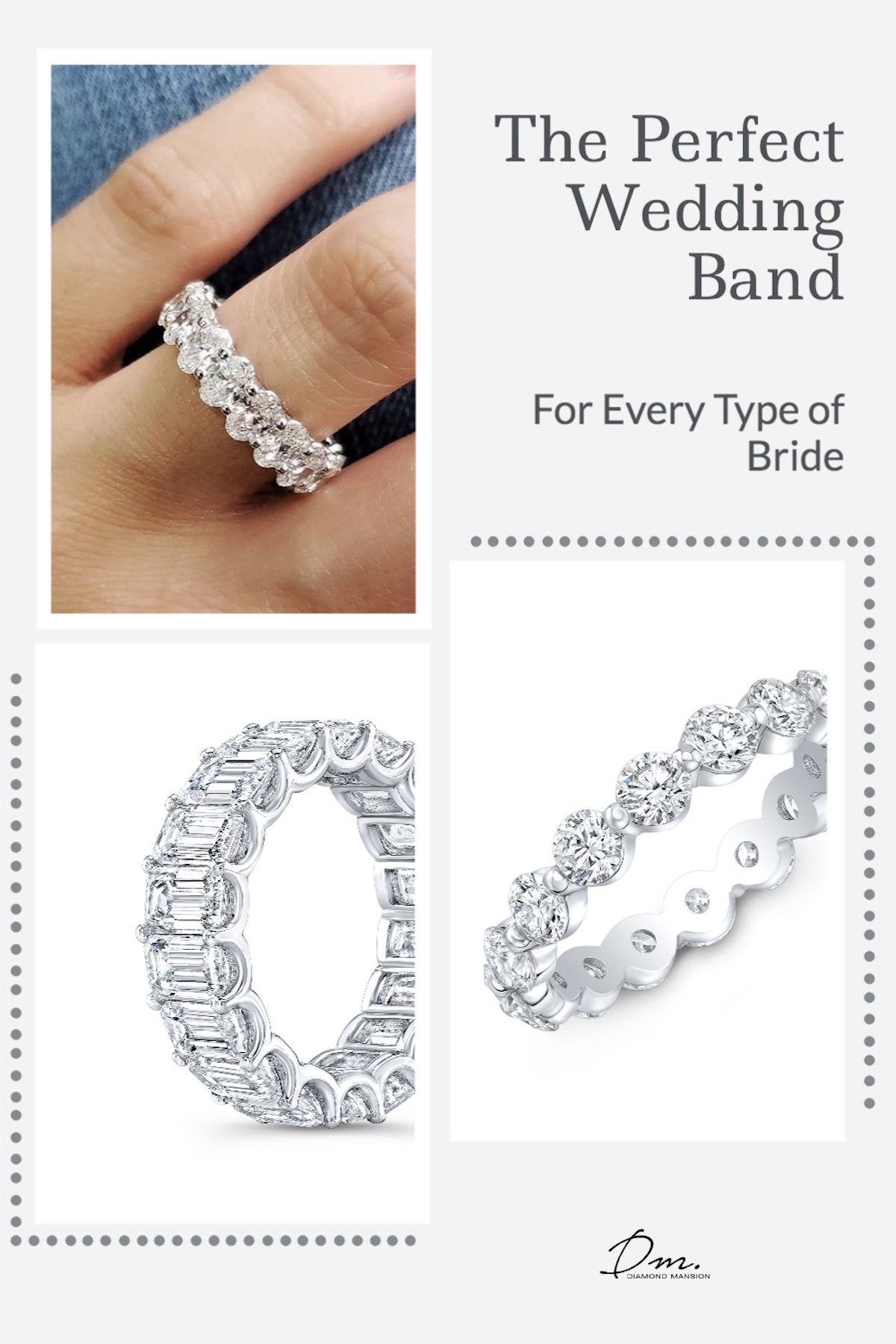 The Perfect Wedding Band by Diamond Mansion