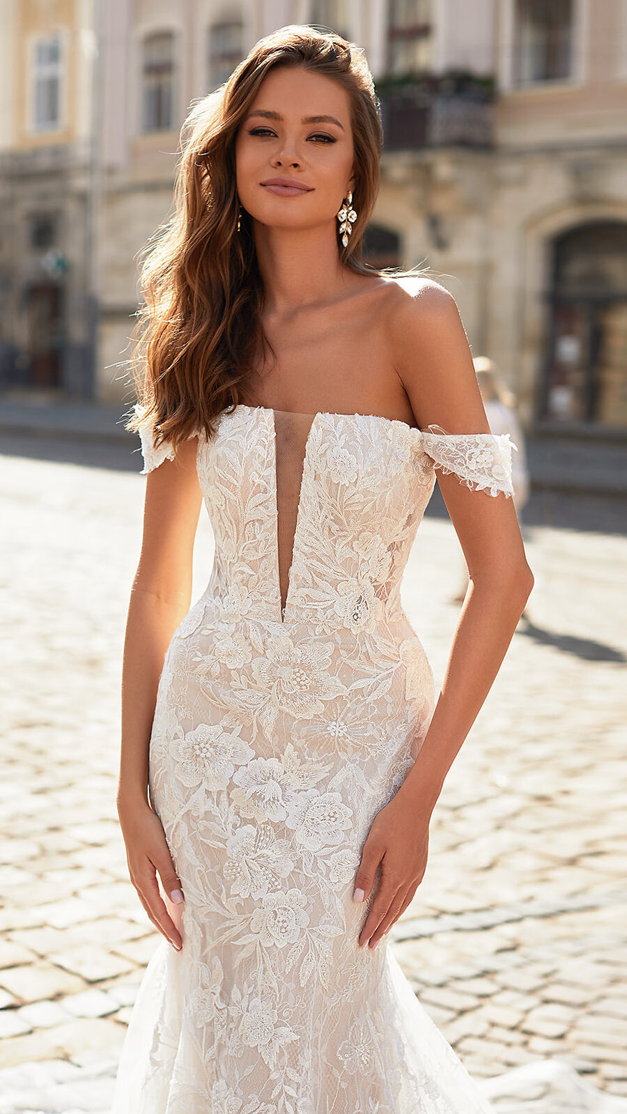 Designer Wedding Dresses by Moonlight Couture 2022 Bridal Collection - H1481