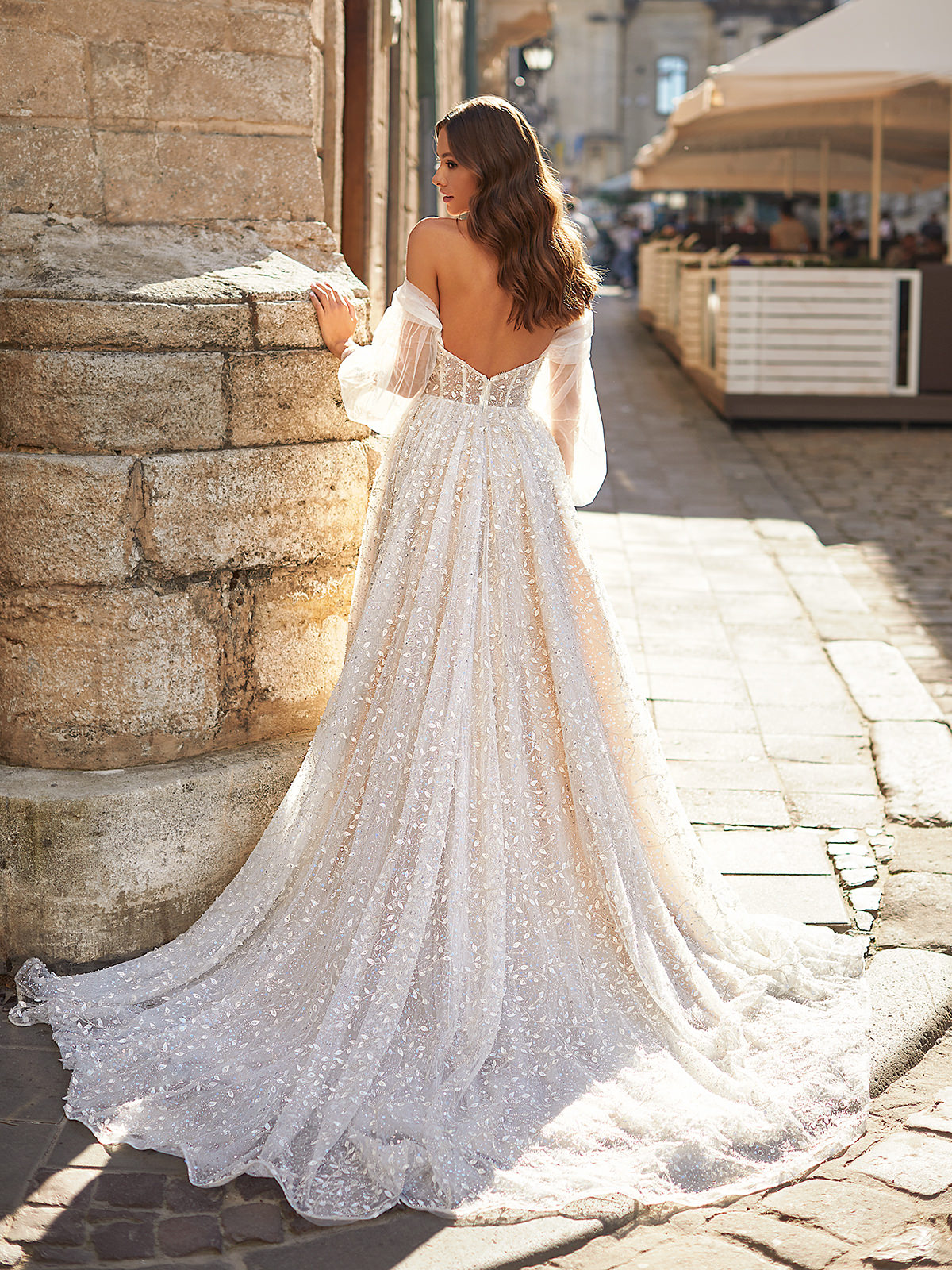 Designer Wedding Dresses by Moonlight Couture 2022 Bridal Collection - H1482