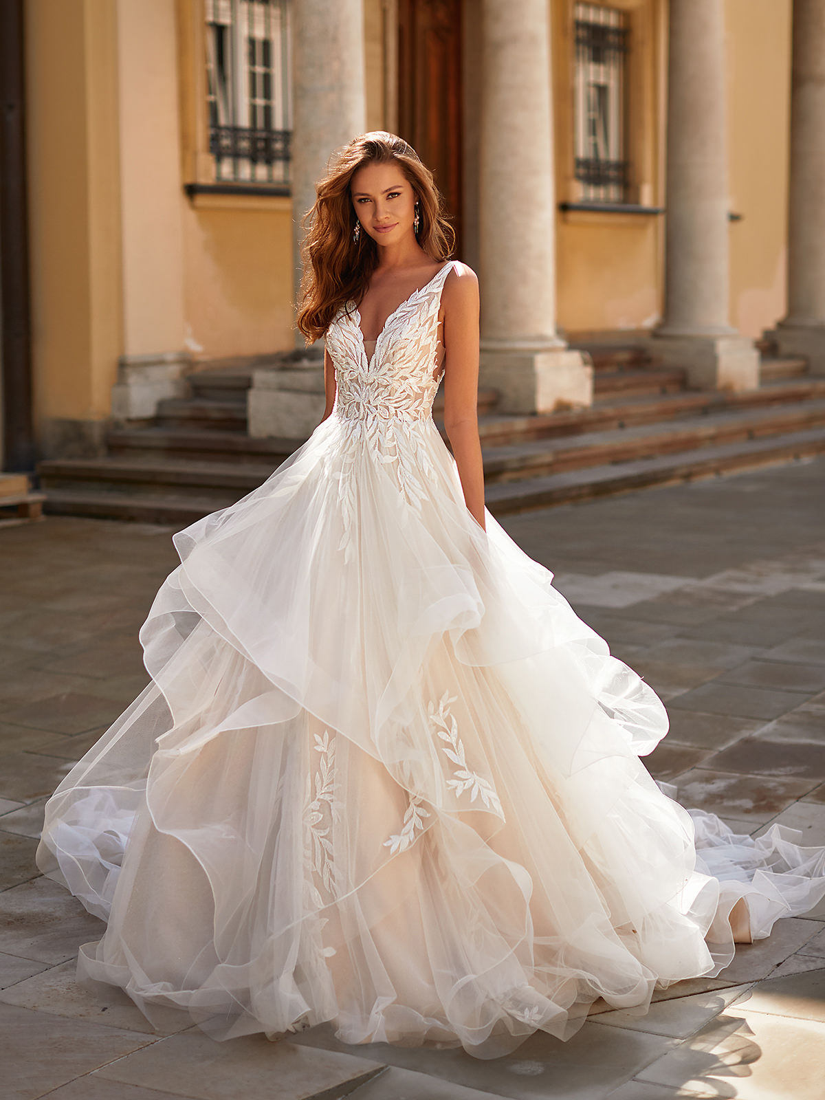 Designer Wedding Dresses by Moonlight Couture 2022 Bridal Collection - H1484