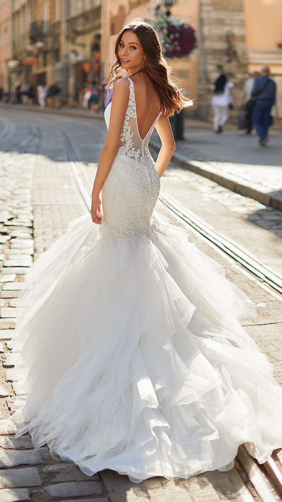 Designer Wedding Dresses by Moonlight Couture 2022 Bridal Collection - H1486