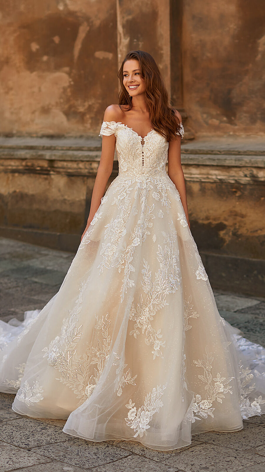Designer Wedding Dresses by Moonlight Couture 2022 Bridal Collection - H1487