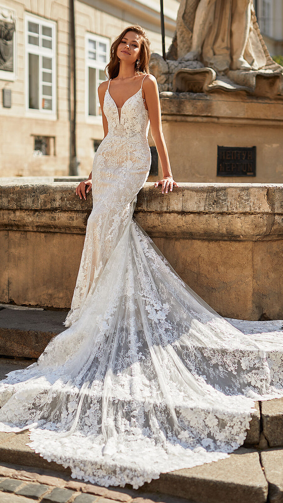 Designer Wedding Dresses by Moonlight Couture 2022 Bridal Collection - H1488