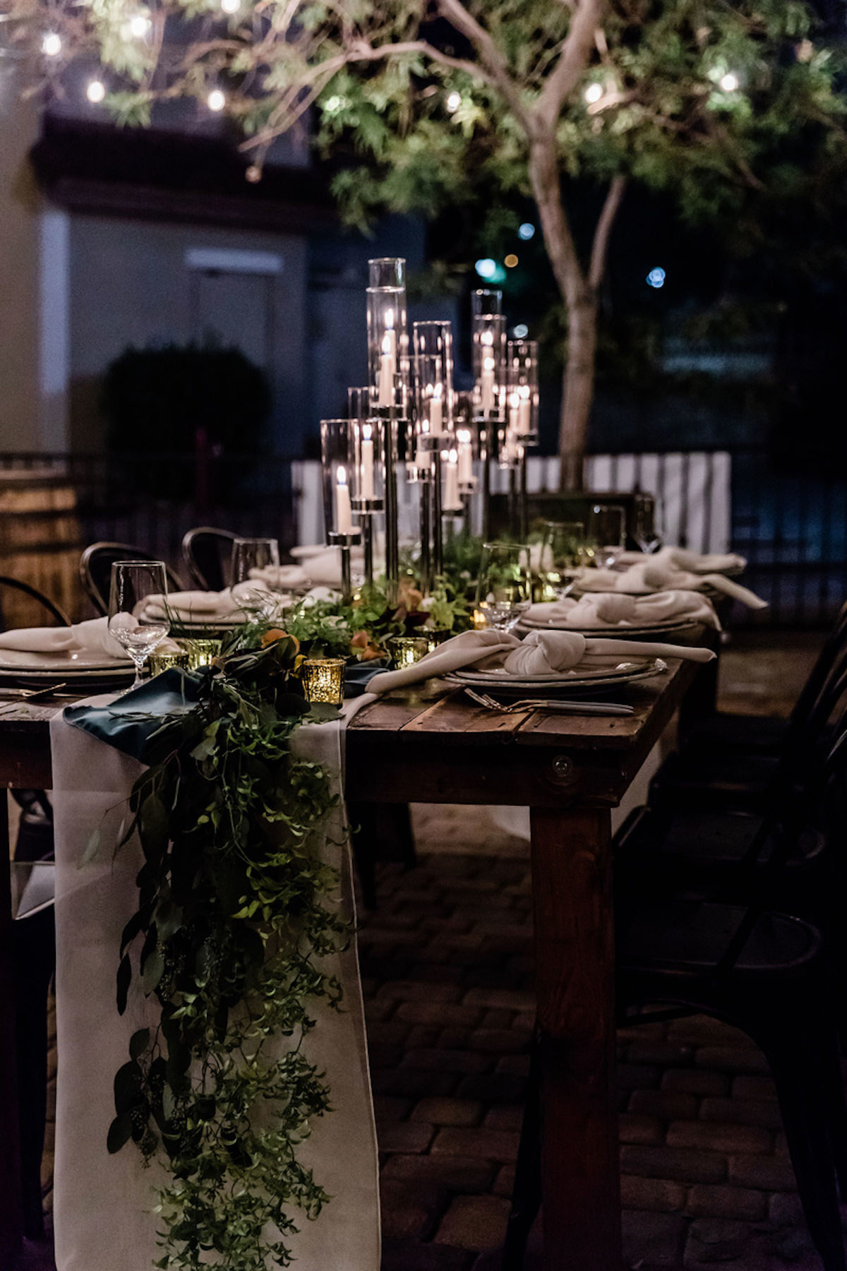 Moody wedding tablescape- Book Simply Elegant by Diana
